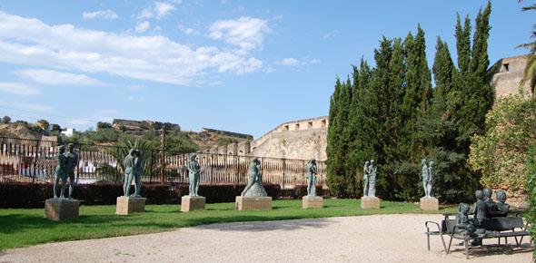 Jardines del Príncipe, museo de esculturas en Tortosa