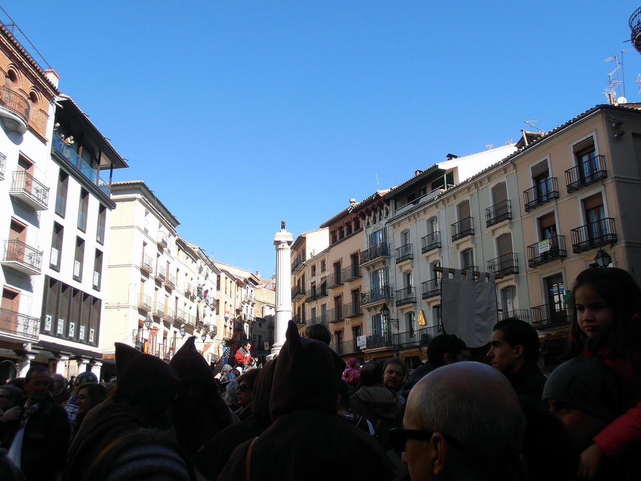 Plaza del Torico abarrotada de visitantes