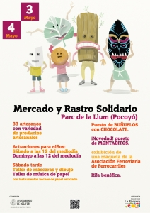 Cartel Mercadillo Solidario - La Pedrara Rocafort
