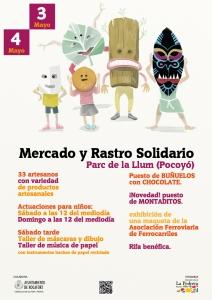 Cartel Mercadillo Solidario - La Pedrara Rocafort