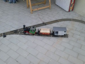 El tren de LGB, rodando todo el día