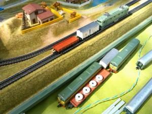 Trenes rodando por nuestra maqueta de Ibertren 3N